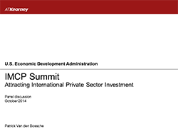 Attracting International Private Sector Investment