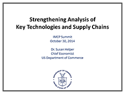 Strengthening Analysis of Key Technologies and Supply Chains