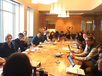 NACIE members gathered offsite at Steve Case's Revolution LLC for their second meeting in March 2015.