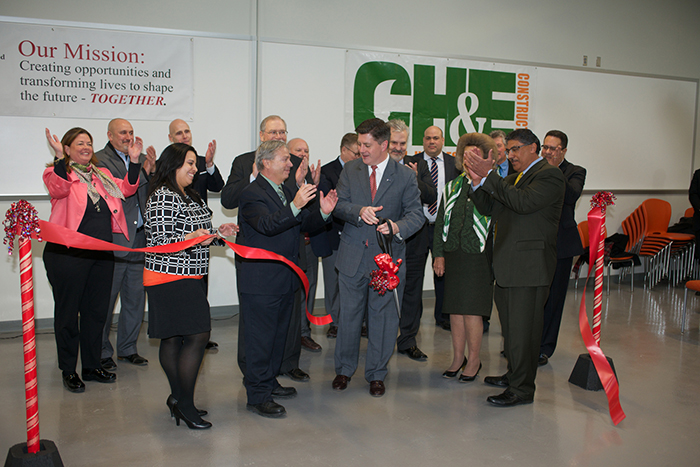 Officials cut the ribbon to open Tec Centro in Lancaster, Pa.
