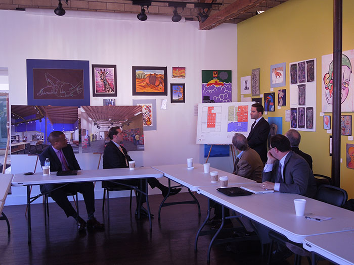 Assistant Secretary Williams and DRA Federal Co-Chairman Chris Masingill participate in roundtable discussion with Arkansas entrepreneurs at the AR Innovation Hub
