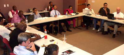 MBA  Students at the Enterprise Center in Winston-Salem, North Carolina