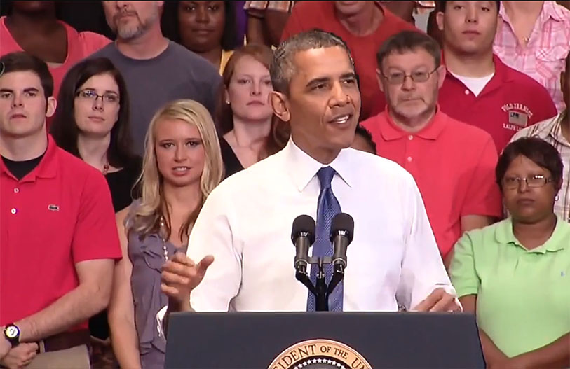 President Obama at Knox College, Galesburg, IL, July 25, 2013