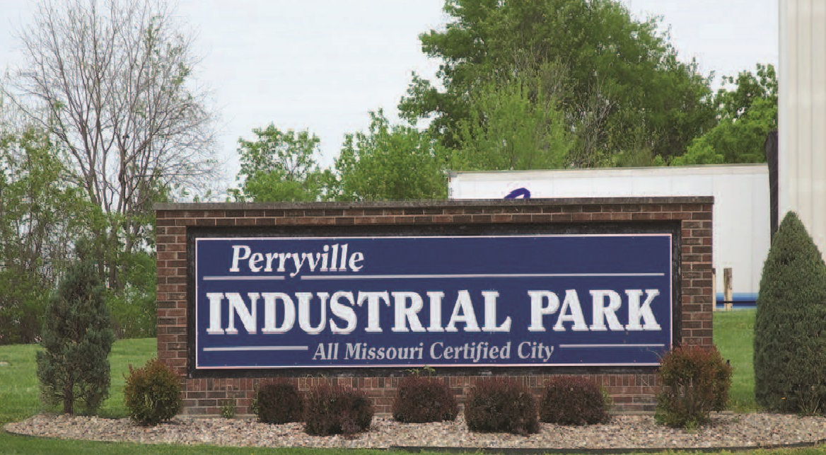 Entrance sign to Perryville Industrial Park