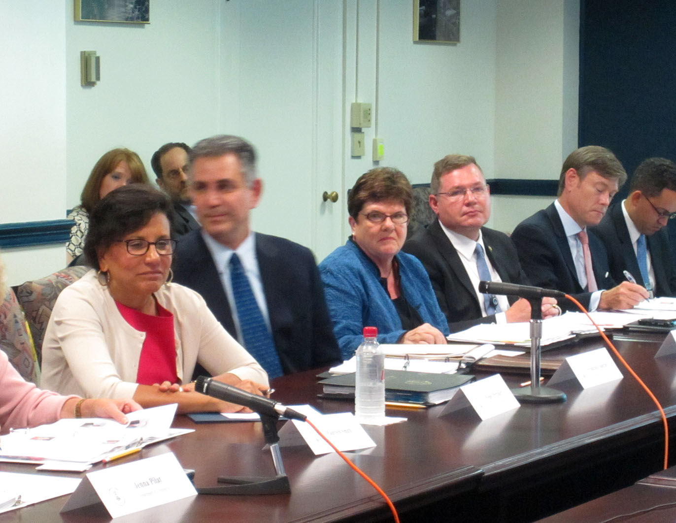 Secretary Penny Pritzker (left), Deputy Assistant Secretary Matt S. Erskine (far right) at Manufacturing Council
