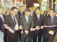 U.S. Ambassador to France Charles Rivkin and U.S. Assistant Secretary of Commerce for Economic Development John Fernandez cut the ribbon to the U.S. Pavilion at Pollutec, the world's leading conference and trade show focusing on sustainable business.