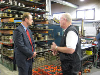 November, 2010 –  Bryan Borlik, Director of EDA's TAA for Firms program, visited Caster Concepts, a Michigan company participating in the program.