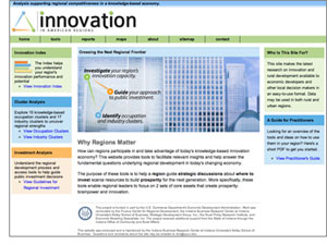 Innovation in American Regions Web Screenshot