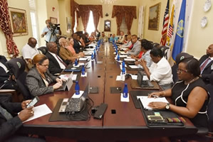 USVI Business roundtable discussion.