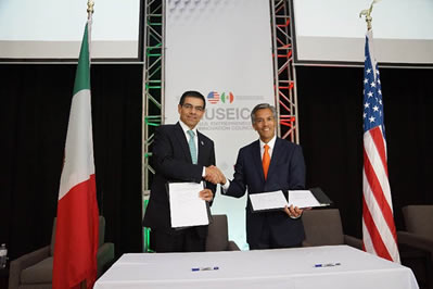 Thomas Guevara, Deputy Assistant Secretary for Regional Affairs, U.S. Department of Commerce and Enrique Jacob Rocha, President, Mexican National Entrepreneurship Institute.