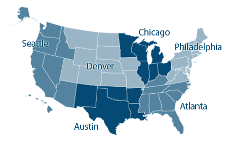 EDA Regional Office Structure - EDA is serviced by 6 regional offices - Philadelphia, Chicago, Atlanta, Denver, Austin, Seattle