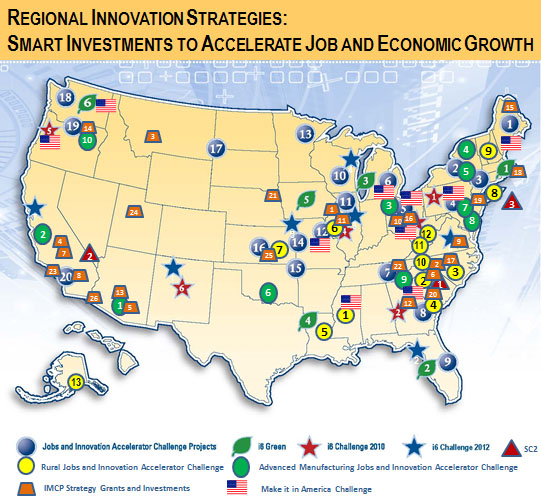 Regional Innovation Straties Map - Smart Investments to Accelerate Job and Economic Growth