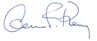 Acting Secretary of Commerce Cameron Kerry Signature