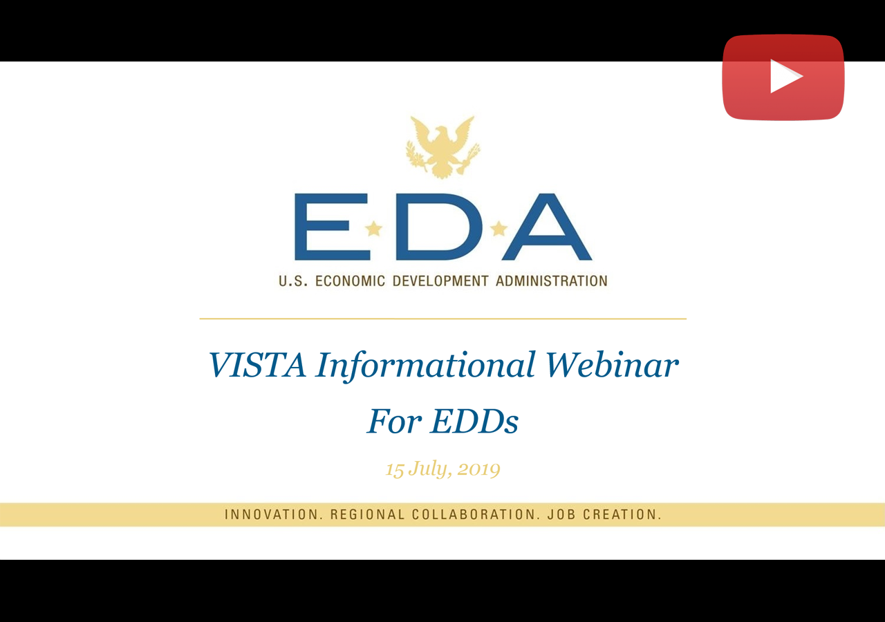 2019 VISTA Informational Webinar for EDDs