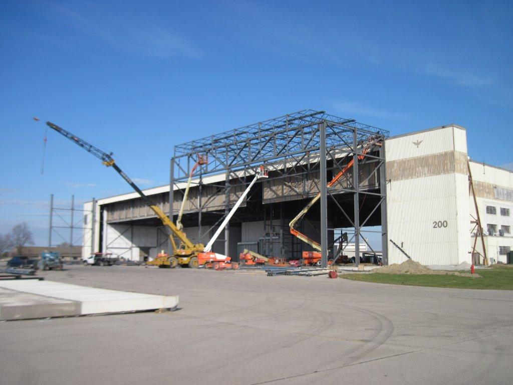 Hangar 200 during expansion and renovation