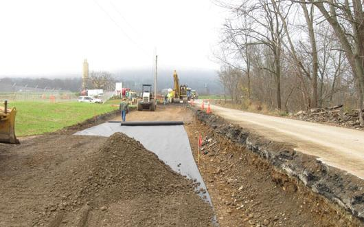 Road construction in Chemung County, NY